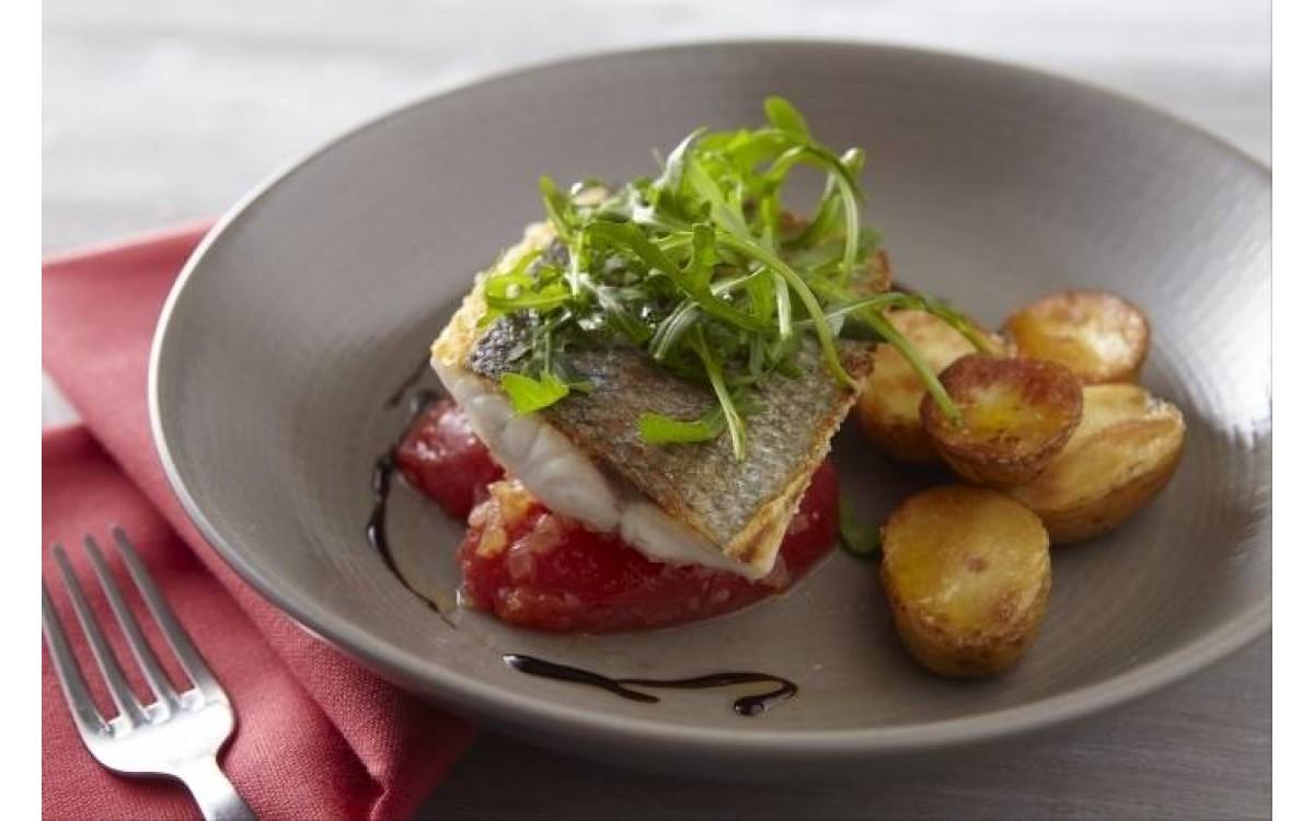 Crispy fillet of sea bass